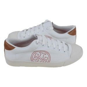 Tory Burch White Sally Canvas Sneakers